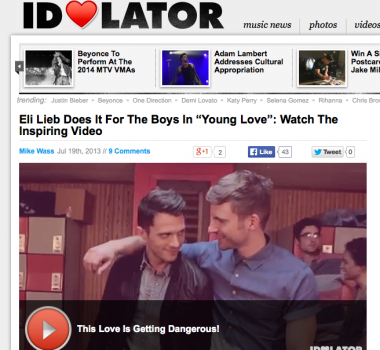 """Eli Lieb Does It For The Boys In """"Young Love"""": Watch The Inspiring Video"""
