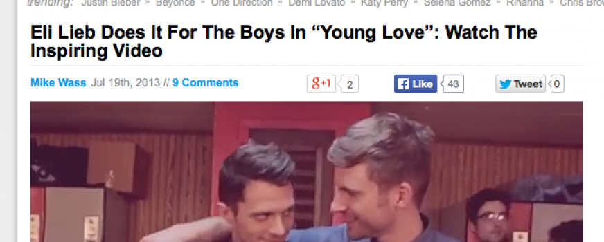 "Eli Lieb Does It For The Boys In ""Young Love"": Watch The Inspiring Video"