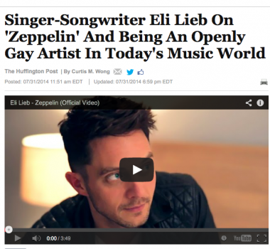 Singer-Songwriter Eli Lieb On 'Zeppelin' And Being An Openly Gay Artist In Today's Music World